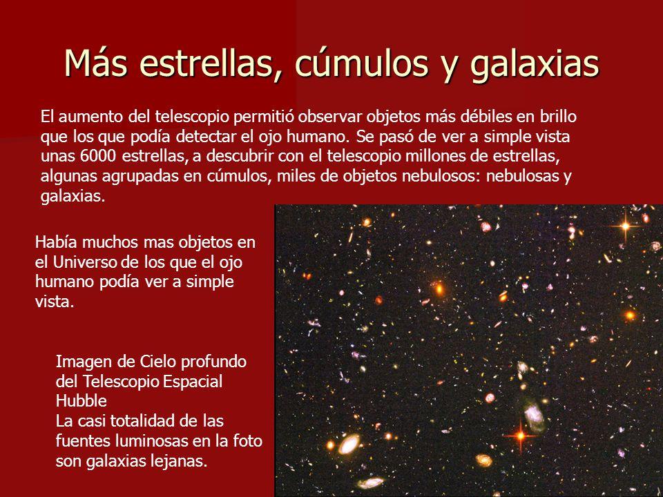 Más estrellas, cúmulos y galaxias
