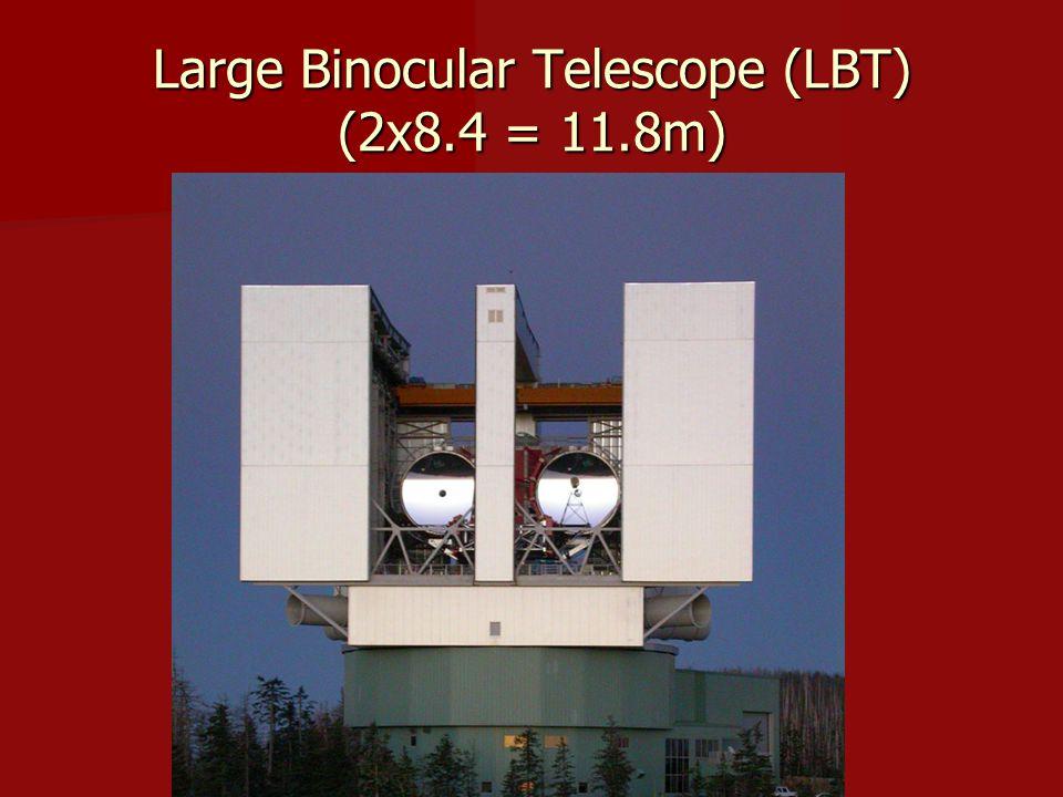 Large Binocular Telescope (LBT) (2x8.4 = 11.8m)