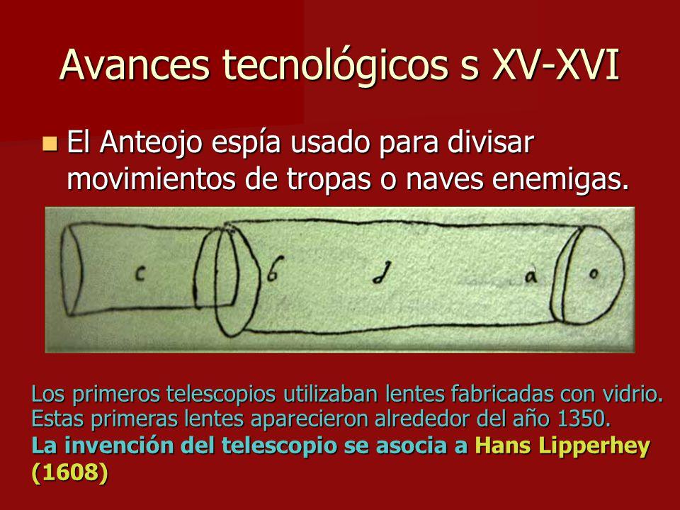 Avances tecnológicos s XV-XVI