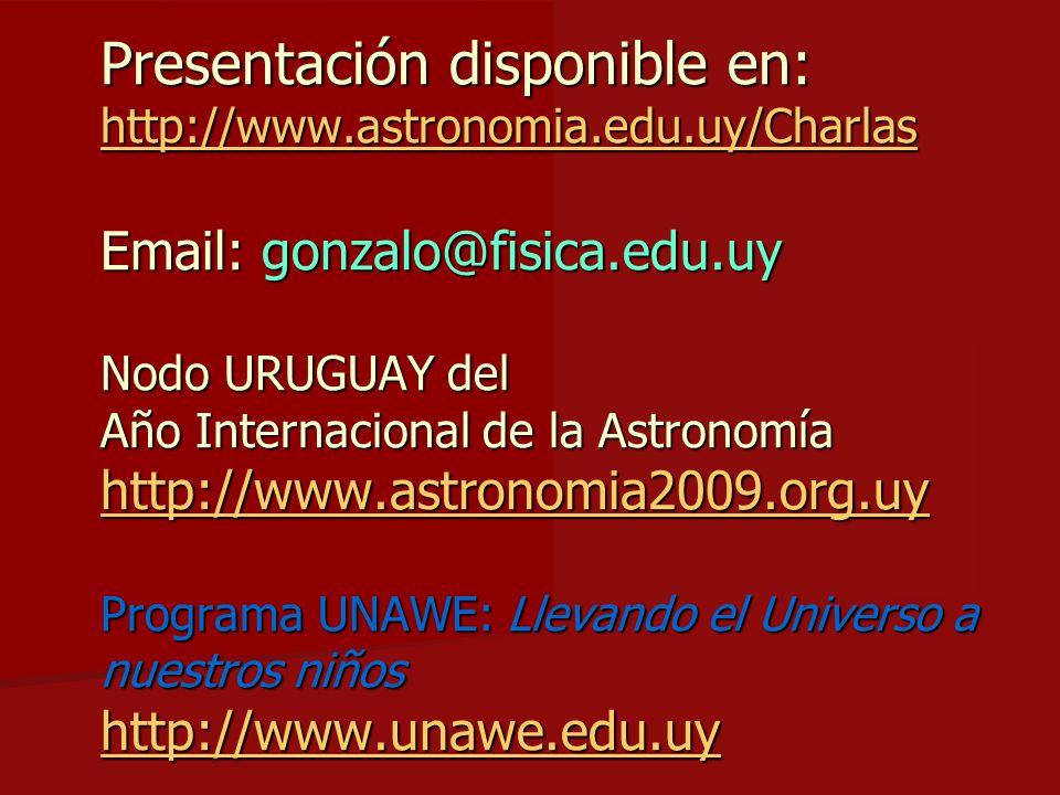 Presentación disponible en: http://www. astronomia. edu