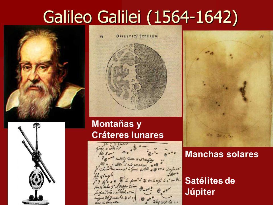 Galileo Galilei (1564-1642) Montañas y Cráteres lunares