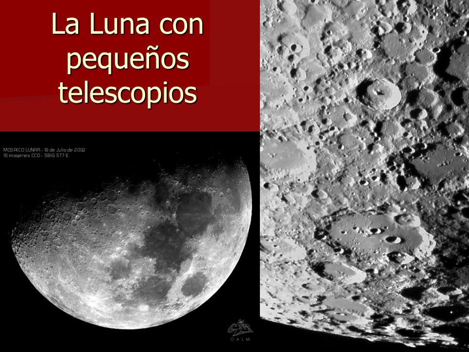 La Luna con pequeños telescopios