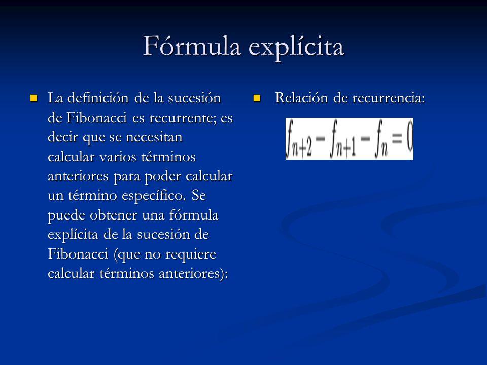 Fórmula explícita