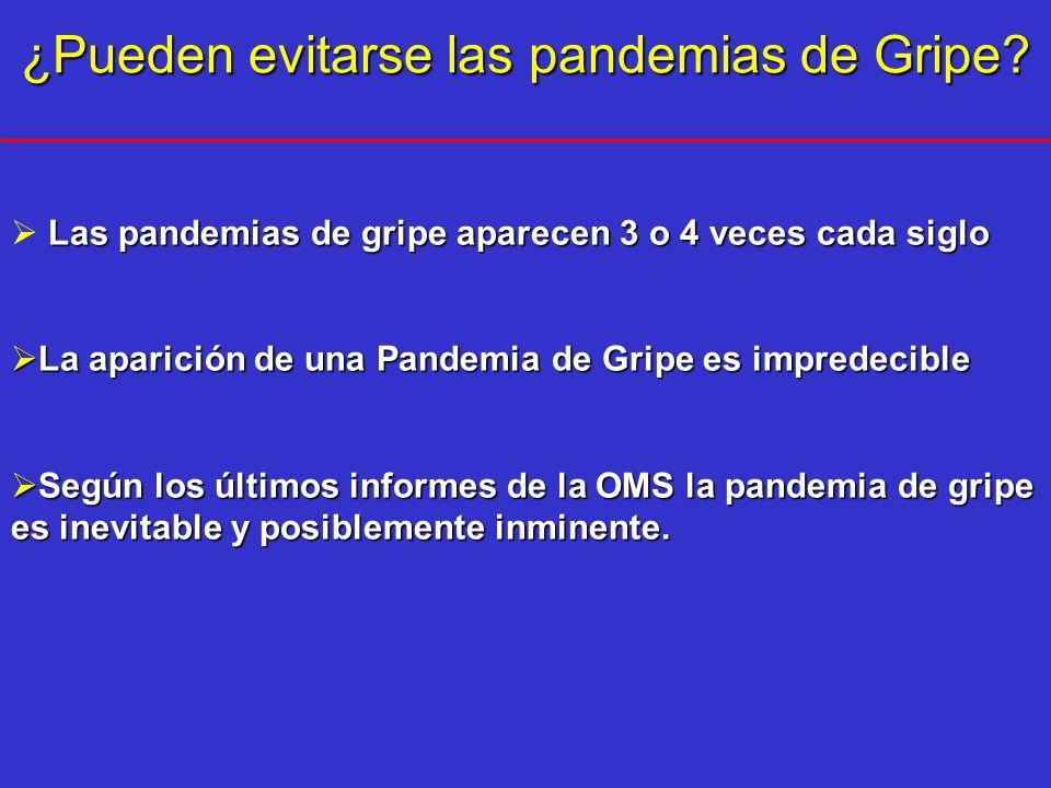 ¿Pueden evitarse las pandemias de Gripe
