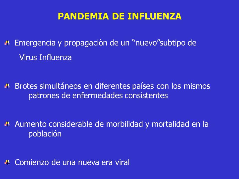 PANDEMIA DE INFLUENZA Emergencia y propagaciòn de un nuevo subtipo de