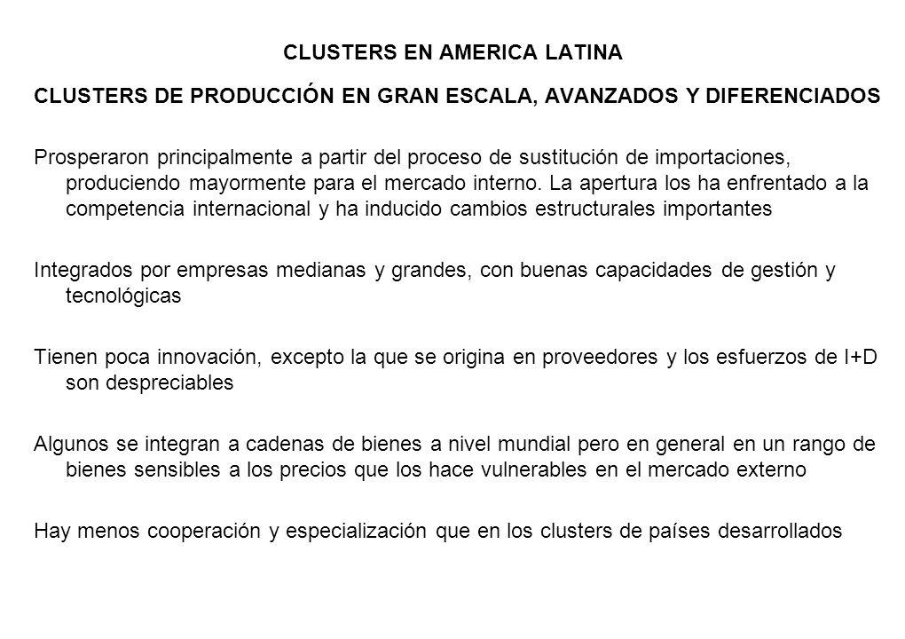CLUSTERS EN AMERICA LATINA