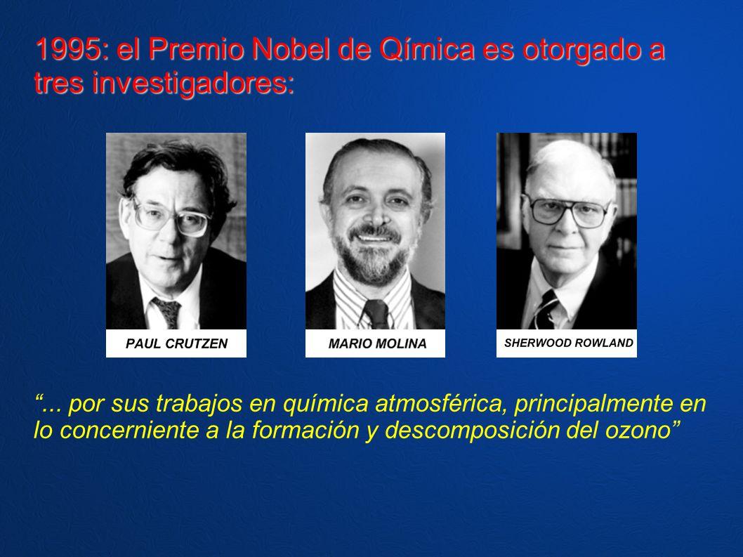 1995: el Premio Nobel de Qímica es otorgado a tres investigadores: