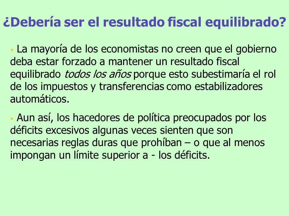 ¿Debería ser el resultado fiscal equilibrado