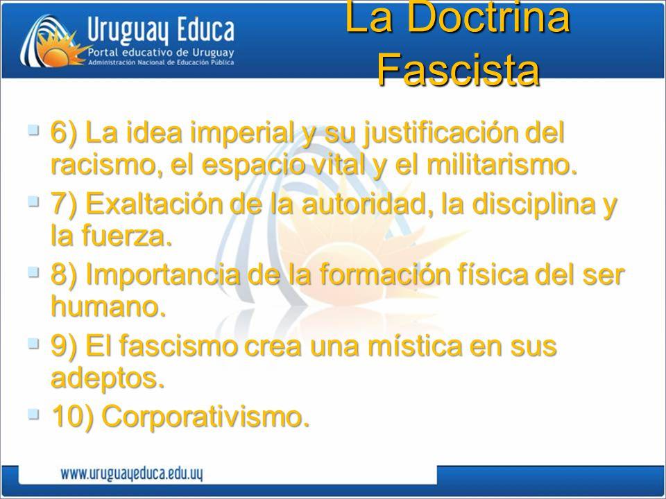 La Doctrina Fascista 6) La idea imperial y su justificación del racismo, el espacio vital y el militarismo.