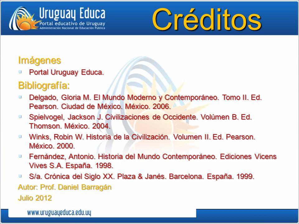 Créditos Imágenes Bibliografía: Portal Uruguay Educa.