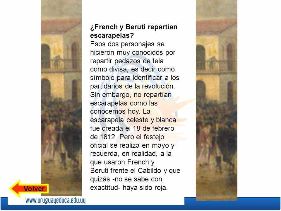 ¿French y Beruti repartían escarapelas
