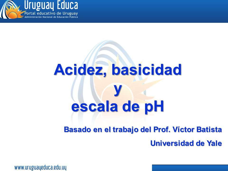 Acidez, basicidad y escala de pH