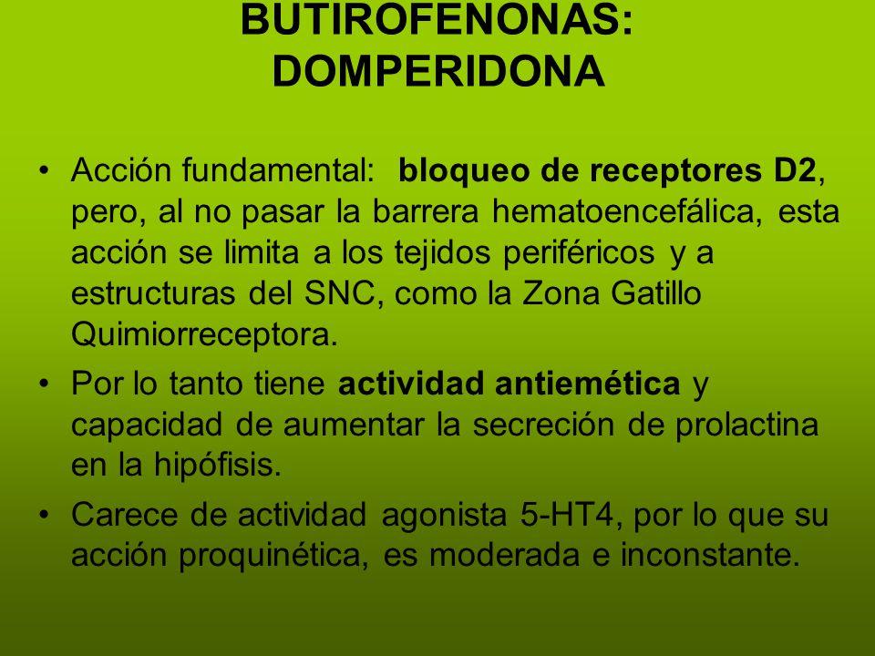 BUTIROFENONAS: DOMPERIDONA