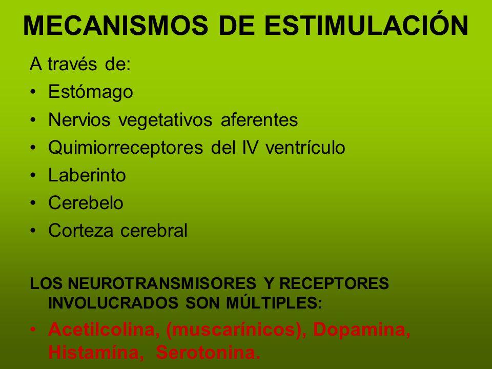 MECANISMOS DE ESTIMULACIÓN