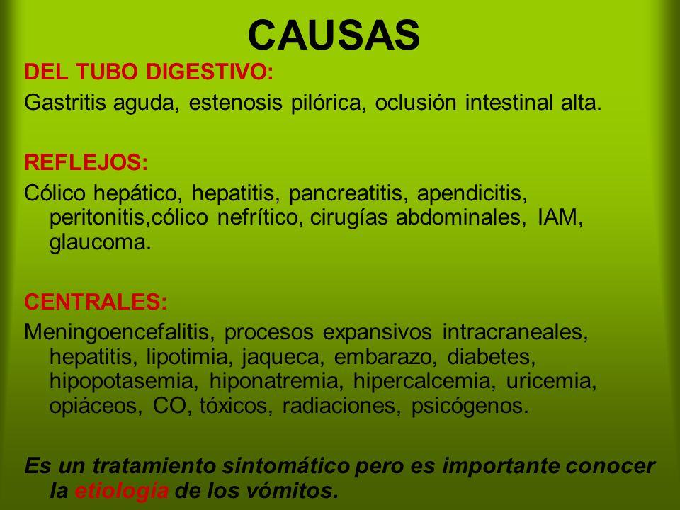 CAUSAS DEL TUBO DIGESTIVO: