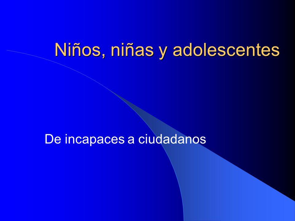 Niños, niñas y adolescentes