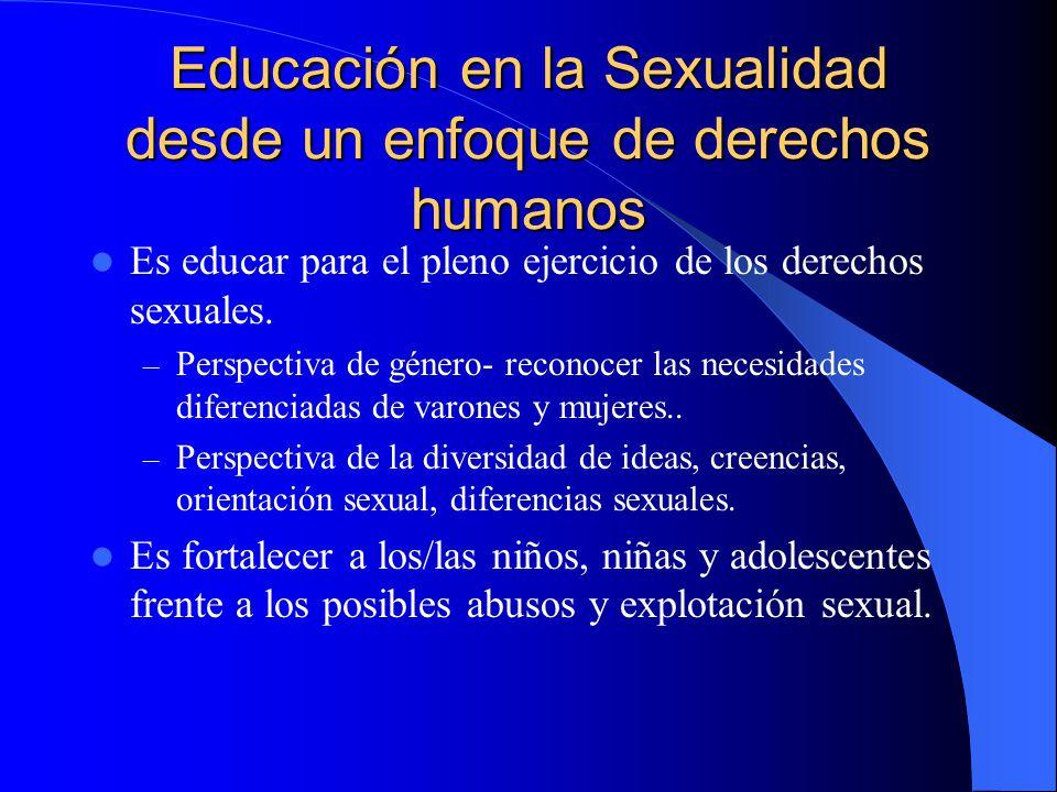 Educación en la Sexualidad desde un enfoque de derechos humanos