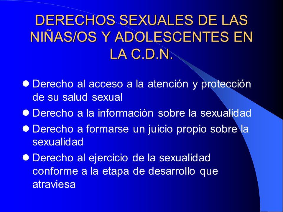 DERECHOS SEXUALES DE LAS NIÑAS/OS Y ADOLESCENTES EN LA C.D.N.