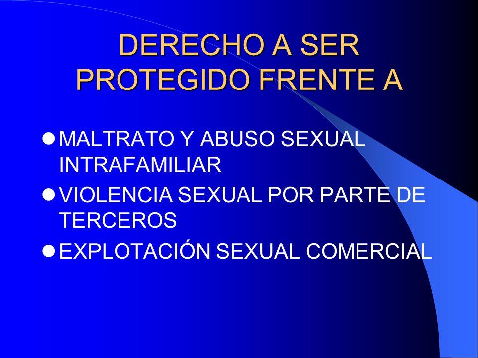 DERECHO A SER PROTEGIDO FRENTE A