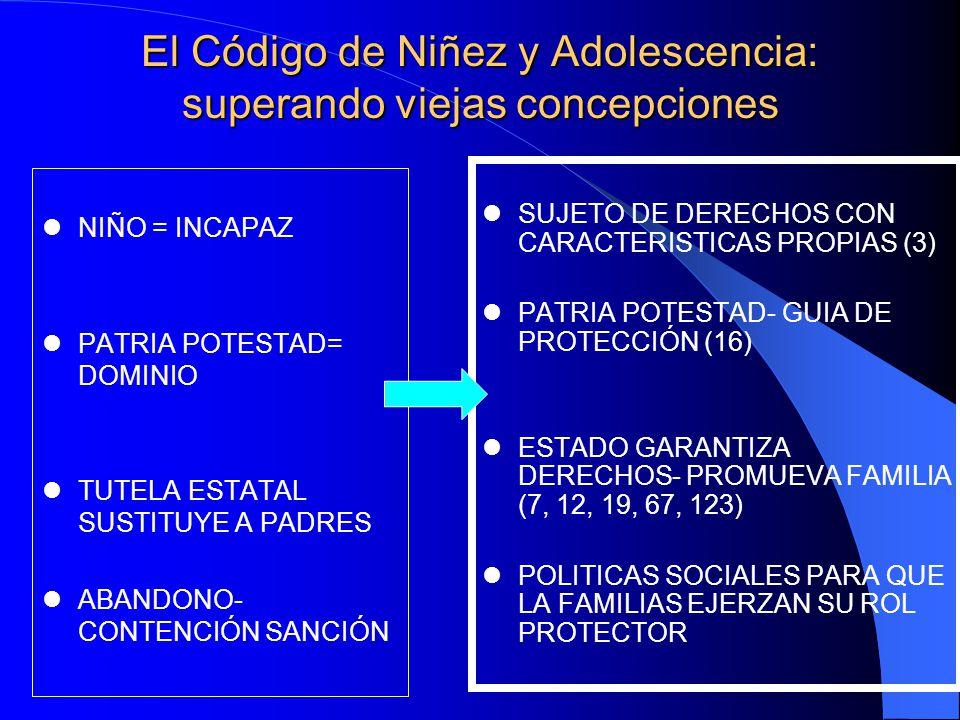 El Código de Niñez y Adolescencia: superando viejas concepciones