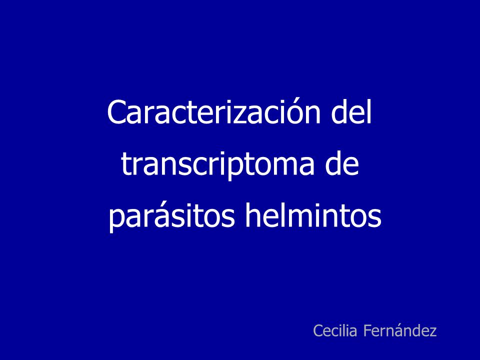 Caracterización del transcriptoma de parásitos helmintos