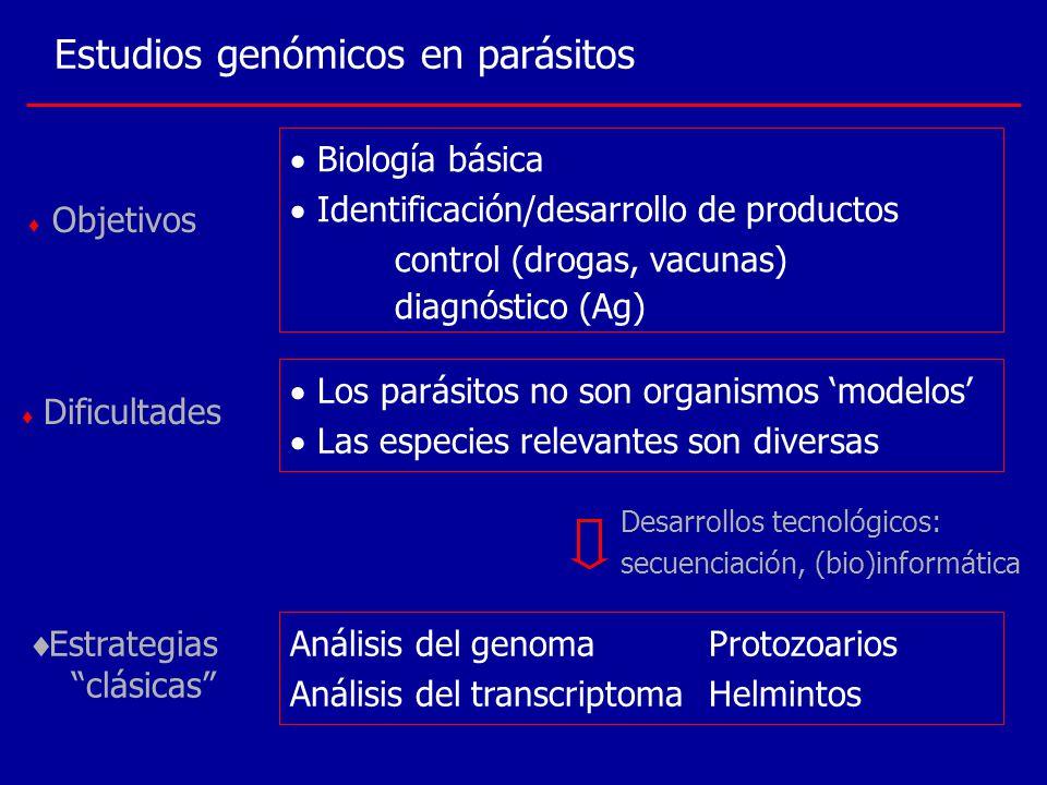 Estudios genómicos en parásitos