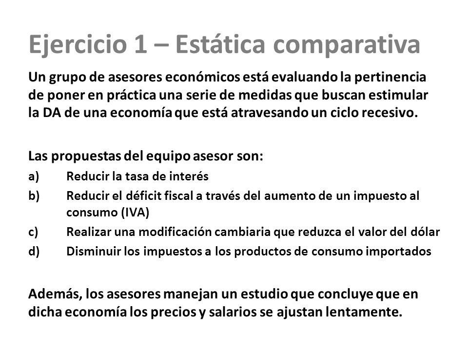 Ejercicio 1 – Estática comparativa