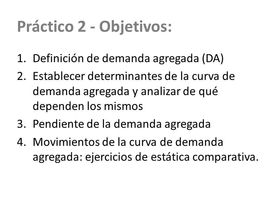 Práctico 2 - Objetivos: Definición de demanda agregada (DA)