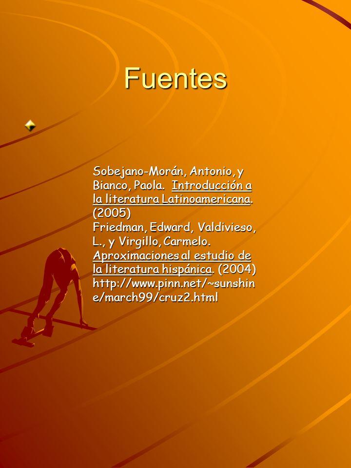 Fuentes Sobejano-Morán, Antonio, y Bianco, Paola. Introducción a la literatura Latinoamericana. (2005)