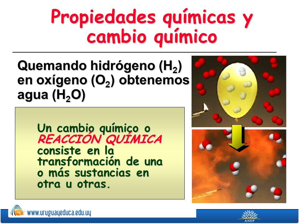 Propiedades químicas y cambio químico