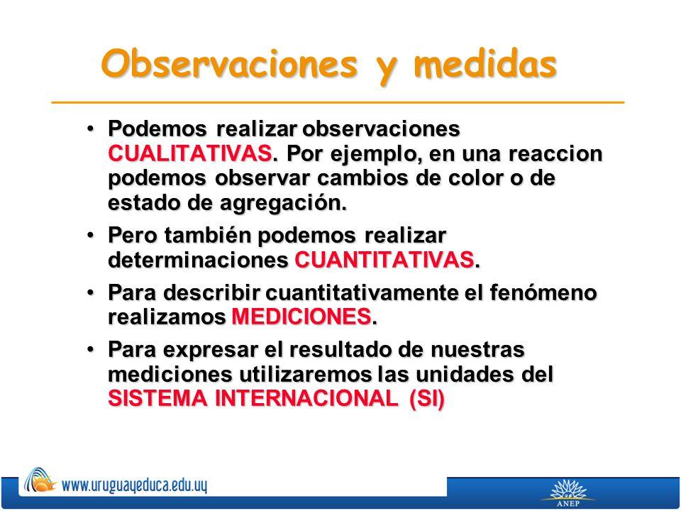 Observaciones y medidas