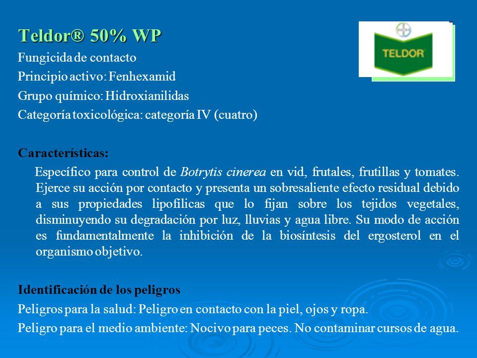 Teldor® 50% WP Fungicida de contacto Principio activo: Fenhexamid