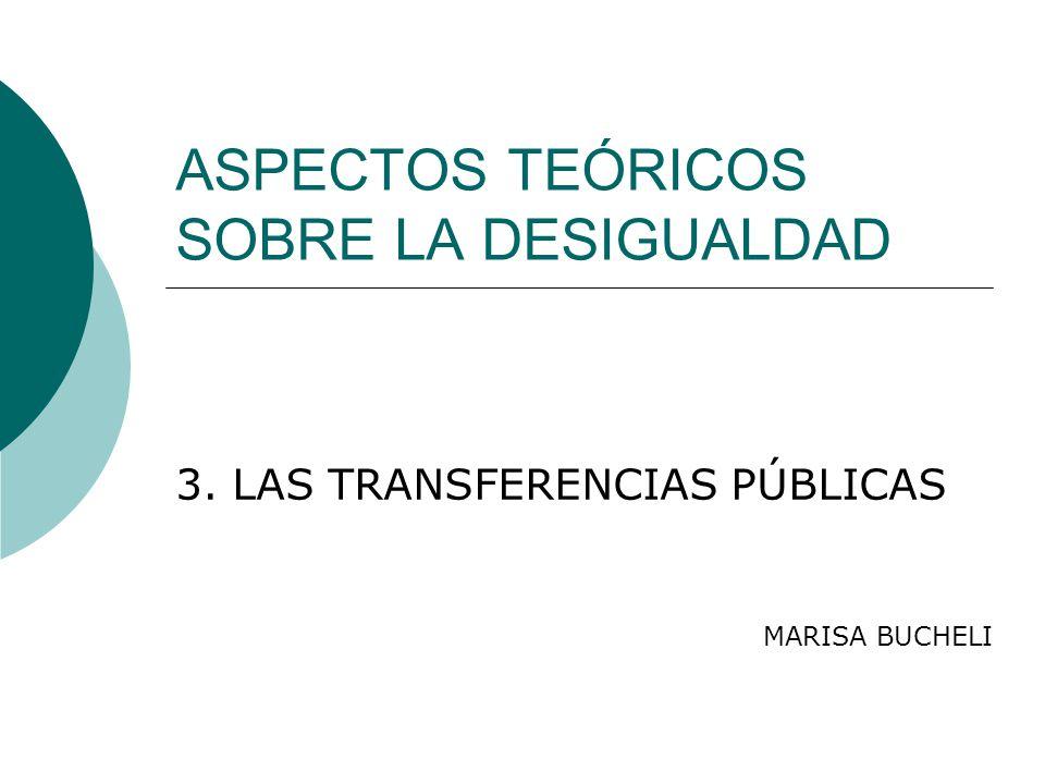 ASPECTOS TEÓRICOS SOBRE LA DESIGUALDAD