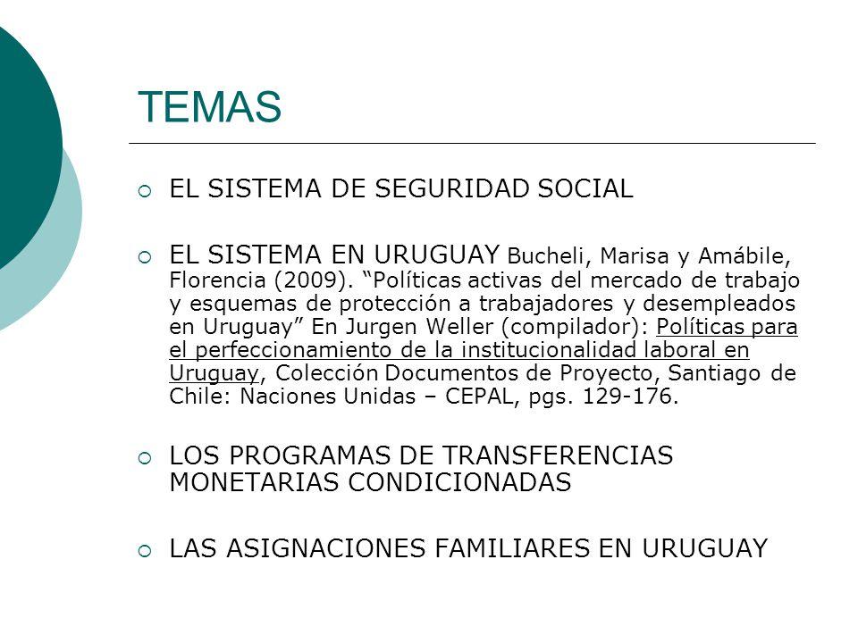 TEMAS EL SISTEMA DE SEGURIDAD SOCIAL