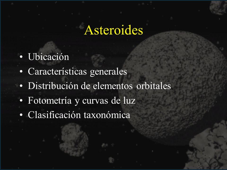 Asteroides Ubicación Características generales