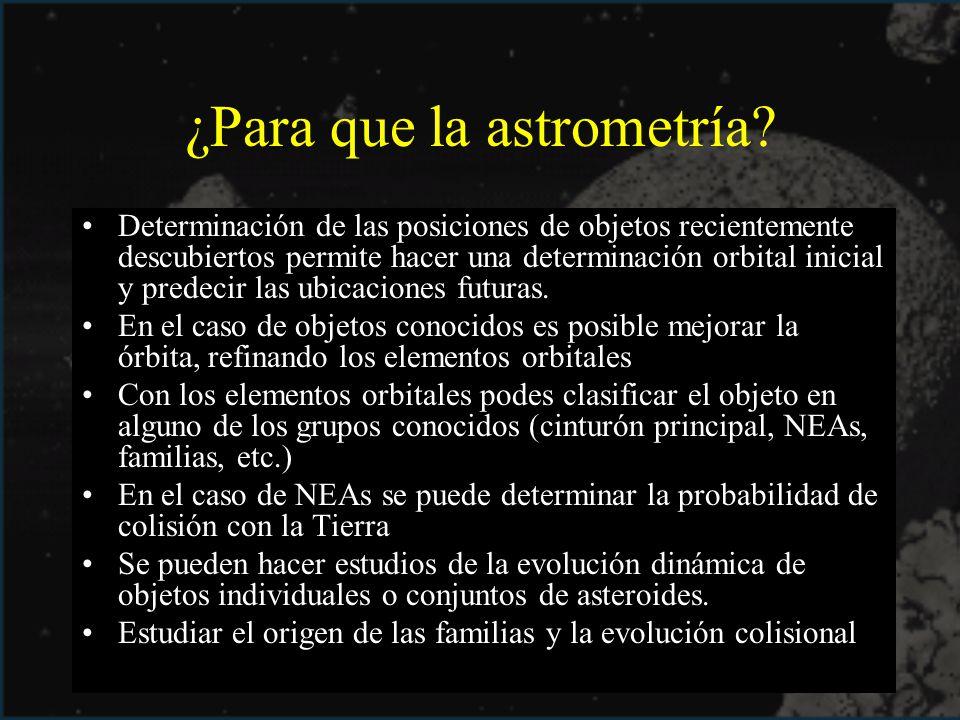 ¿Para que la astrometría