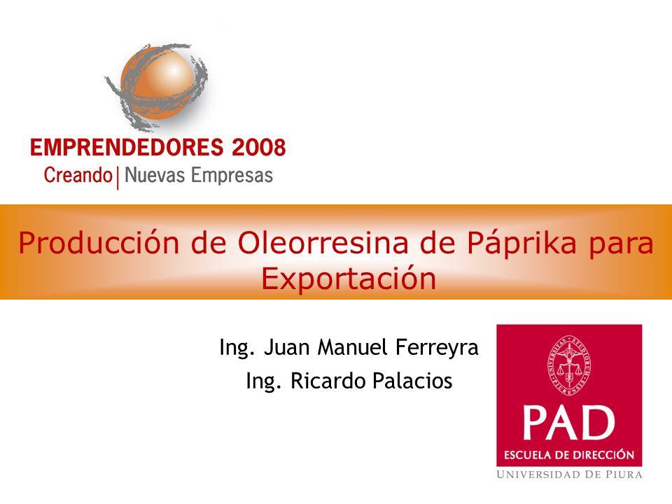 Producción de Oleorresina de Páprika para Exportación