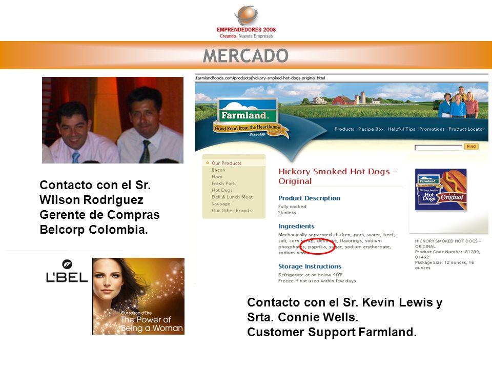 MERCADO Contacto con el Sr. Wilson Rodriguez