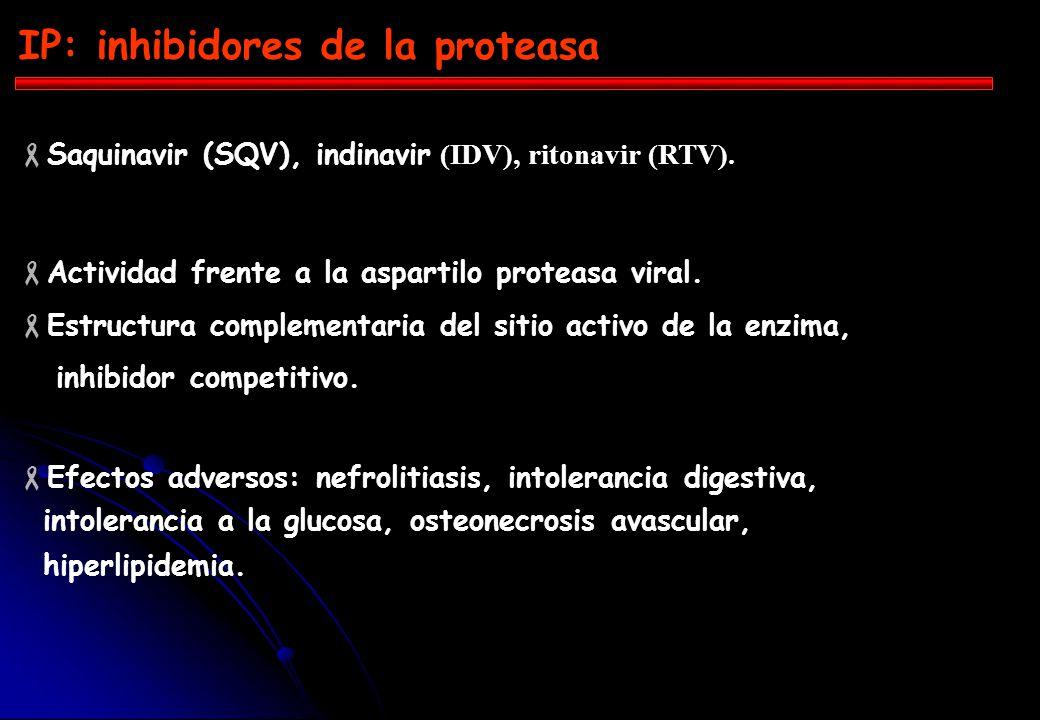IP: inhibidores de la proteasa
