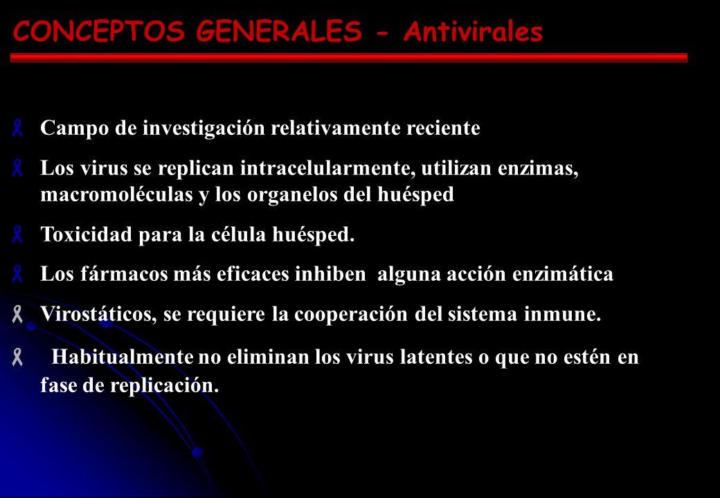 CONCEPTOS GENERALES - Antivirales