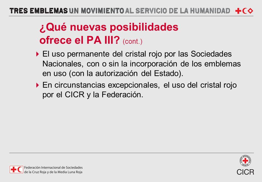 ¿Qué nuevas posibilidades ofrece el PA III (cont.)