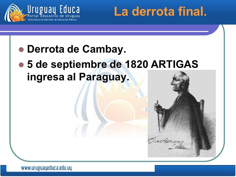 La derrota final. Derrota de Cambay.