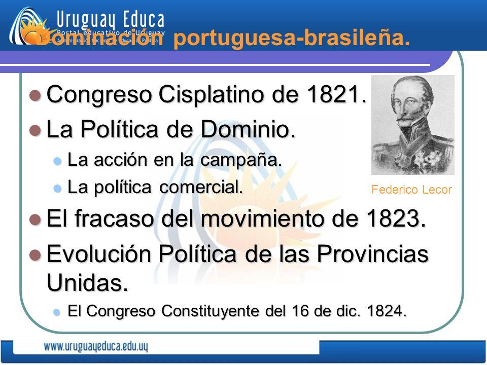 Dominación portuguesa-brasileña.