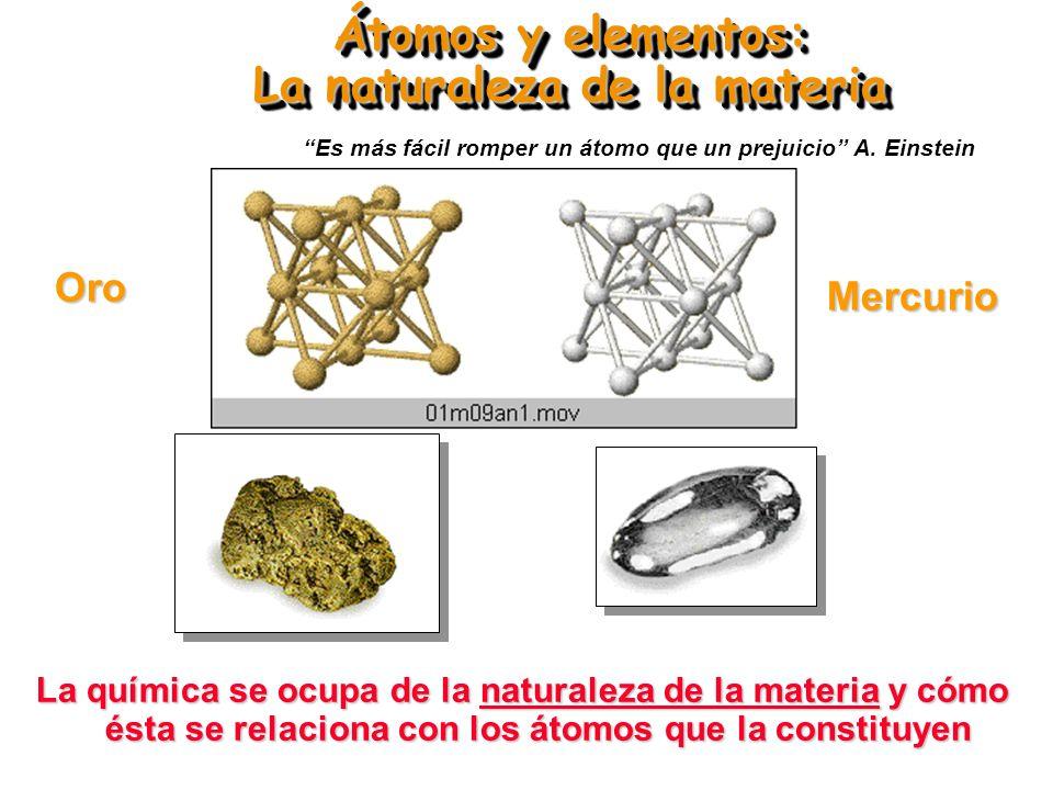 Átomos y elementos: La naturaleza de la materia