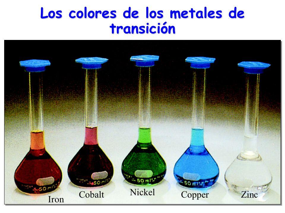 Los colores de los metales de transición
