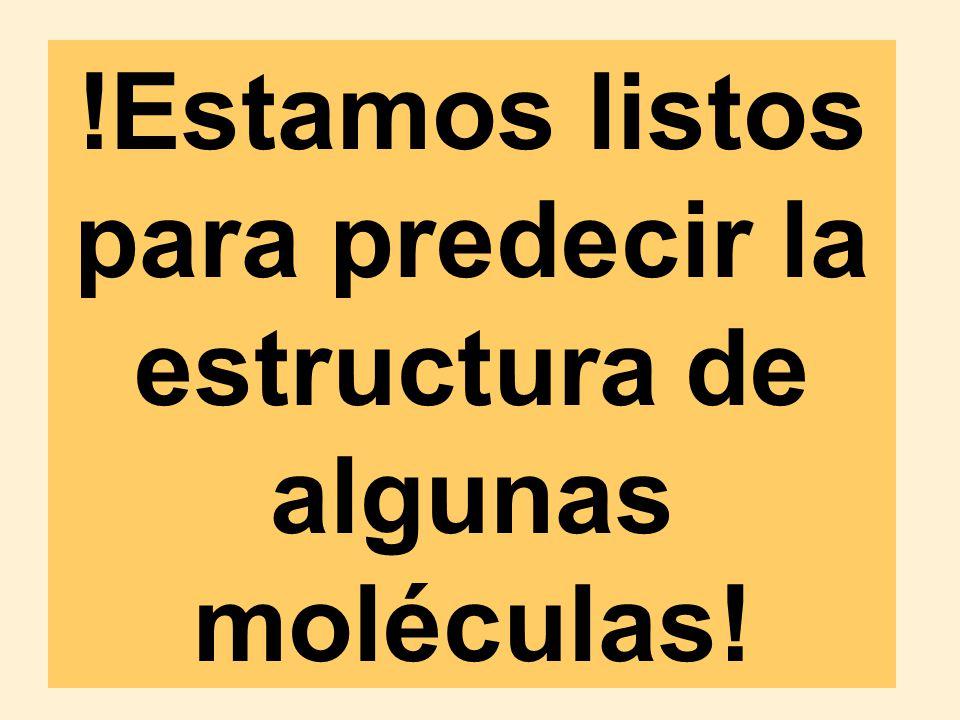 !Estamos listos para predecir la estructura de algunas moléculas!