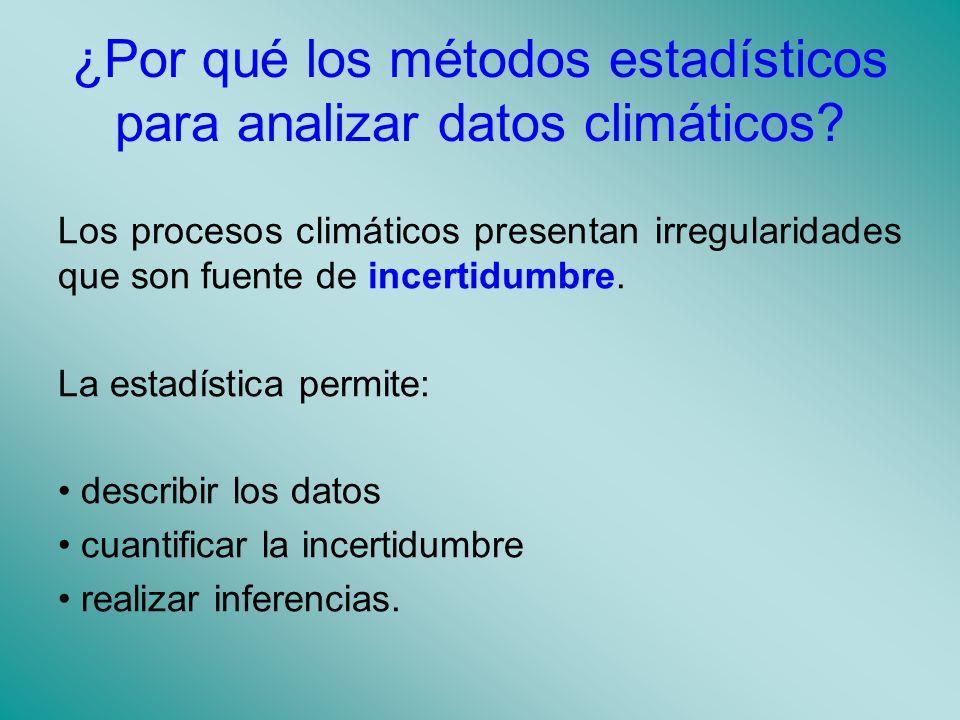 ¿Por qué los métodos estadísticos para analizar datos climáticos