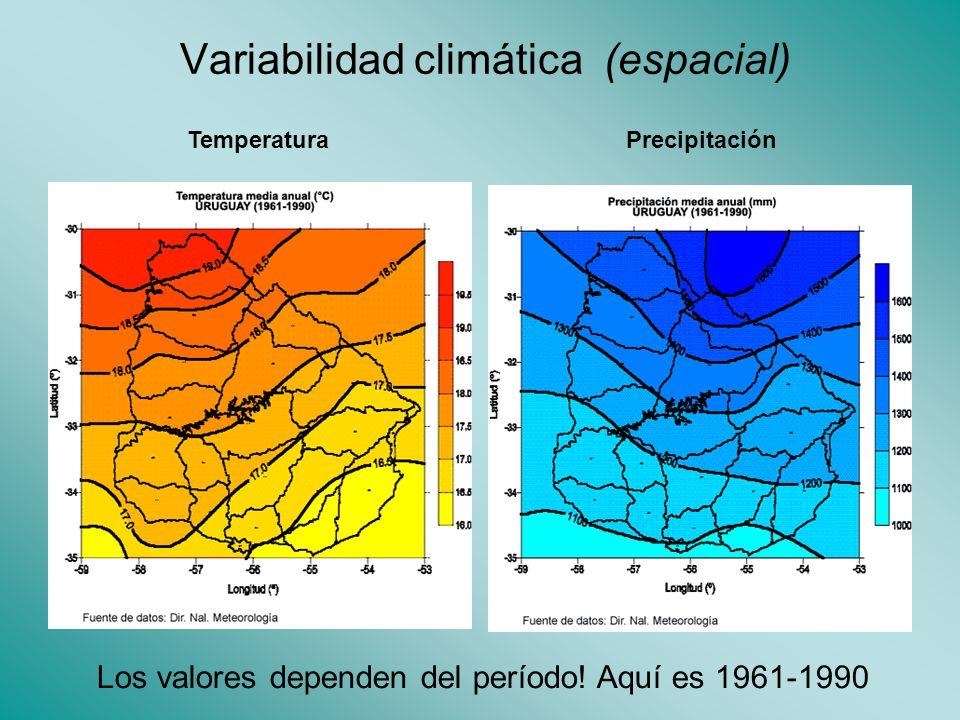 Variabilidad climática (espacial)