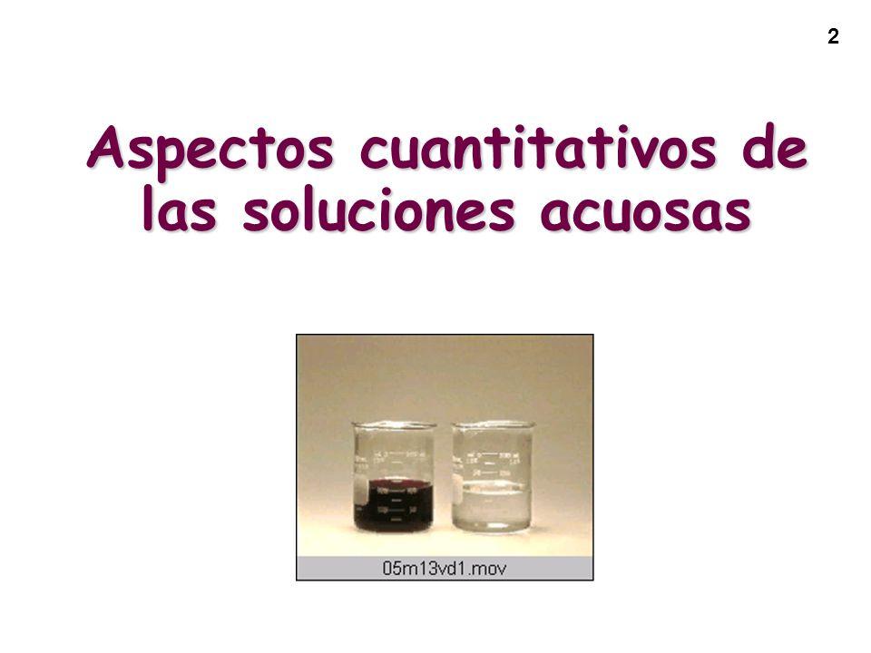 Aspectos cuantitativos de las soluciones acuosas
