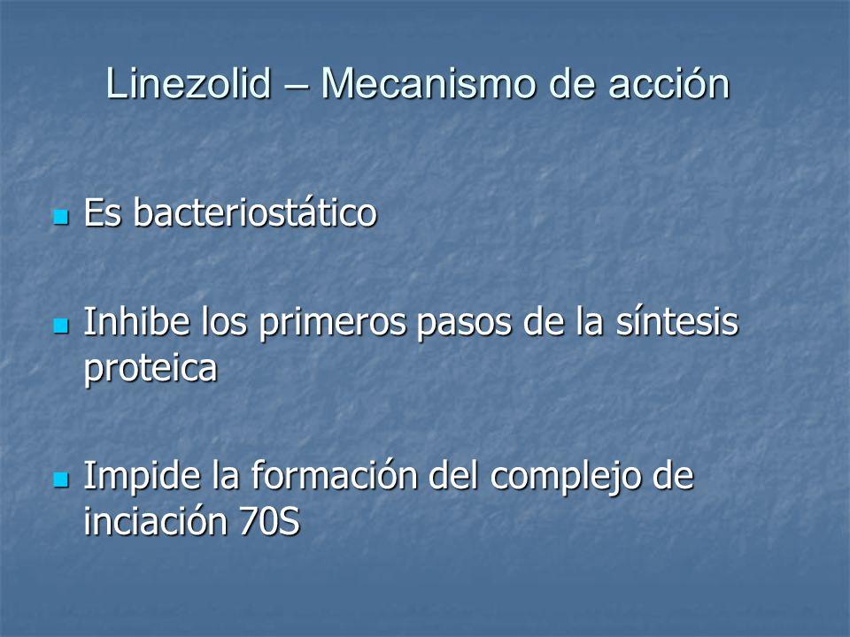 Linezolid – Mecanismo de acción